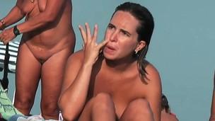 My beach voyeur movie with the company of hot nudists