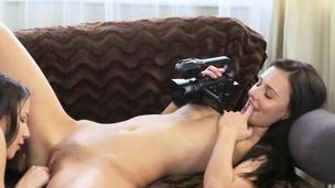 Shriek Brunette besties erotic audition
