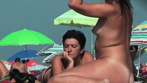 Nude beach voyeur spy cam  naked nudists