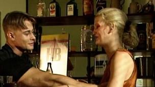 Blonde pounding her man's throbbing coc