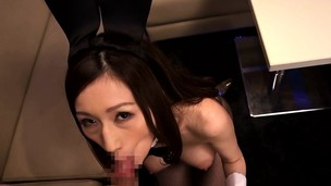 Japanese cosplay  big-titted babe tit-fucking pov