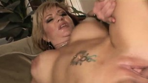 Rough cougar with huge boobs gets screwed