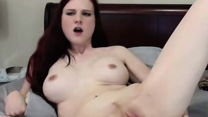 Obscene Redhead Loves To Show Off On Cam