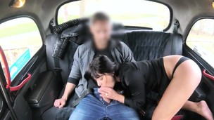 Cool passenger drilled in the backseat to off her fare