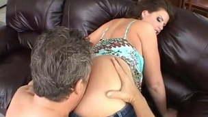 Lisa Sparxxx: Big Butt BBW in Denim Has Anal Sex