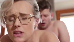 Insane and Sexy MILF Angel Wicky fucked by dorm stepson