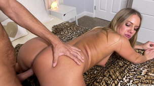 Creampie for Big Ass Slut Candice Dare