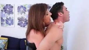 Woman pegging son-in-law
