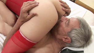 Old dude cheats on his wife with young girl