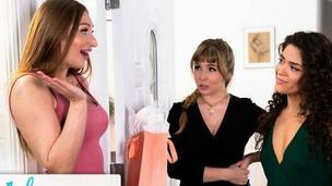 GIRLSWAY &ndash,  Lena Paul', s Moist Threesome Birthday Gift Surprise