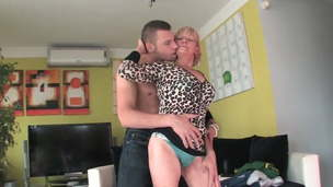 Lonely granny gets fucked