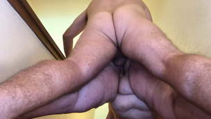 Mature BBW Fucked Doggy &,  Fingered on Stairs &ndash,  Saggy Tits TnD
