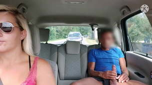 Oh shit, he gets in my cab and pulls out his cock! Shocked