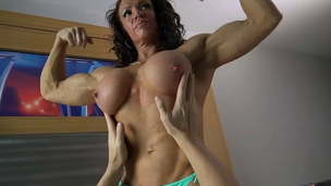Muscle milf pec strangle