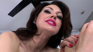 Outrageously mistress rims her sub before pegging