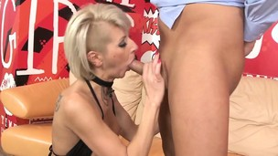 Glam lingerie babe analfucked in tight ass