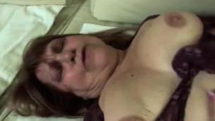 Chubby blonde granny gets banged by younger bone